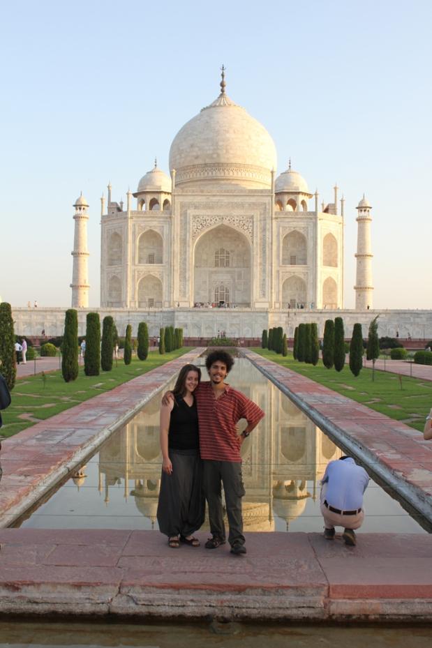 Us in front of the Taj Mahal