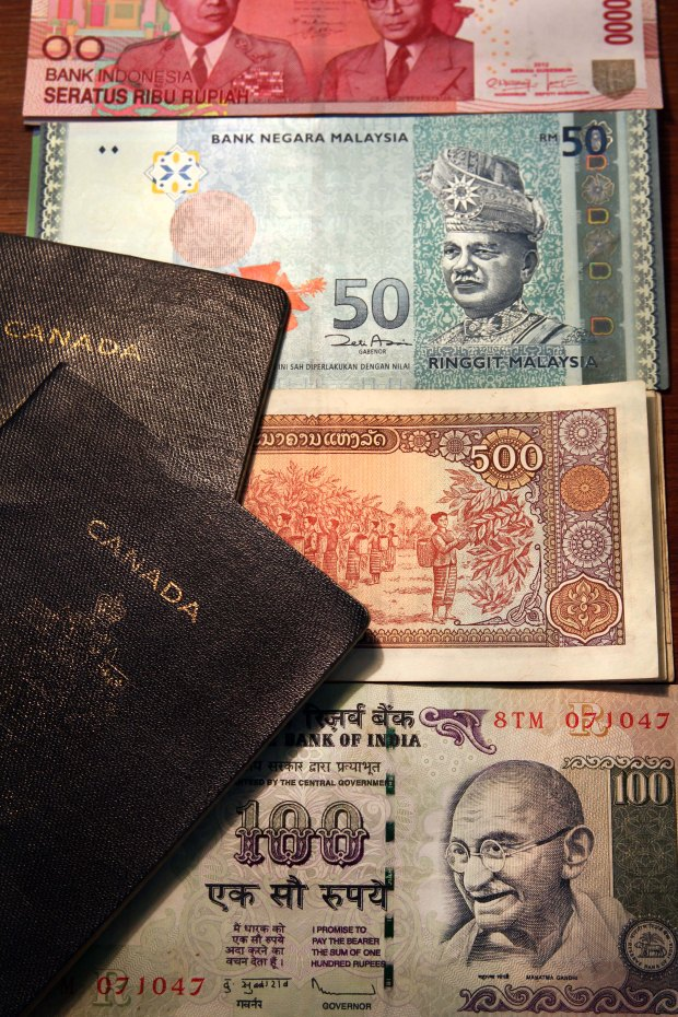 Passports and currencies