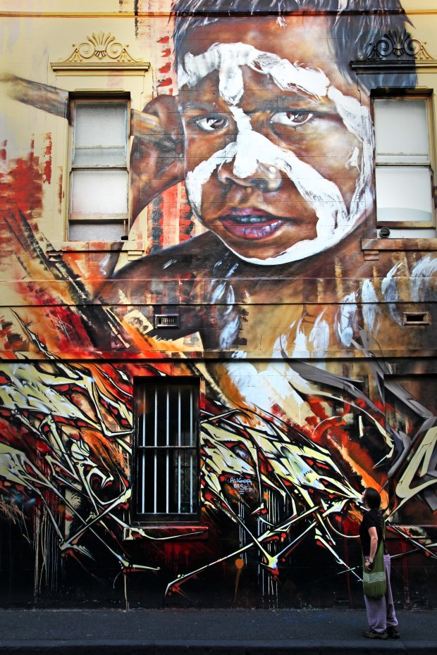 Street art in Fitzroy Melbourne