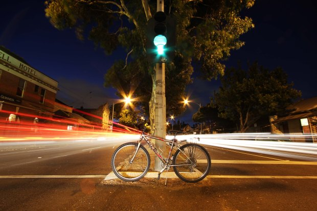 Light trails and bike