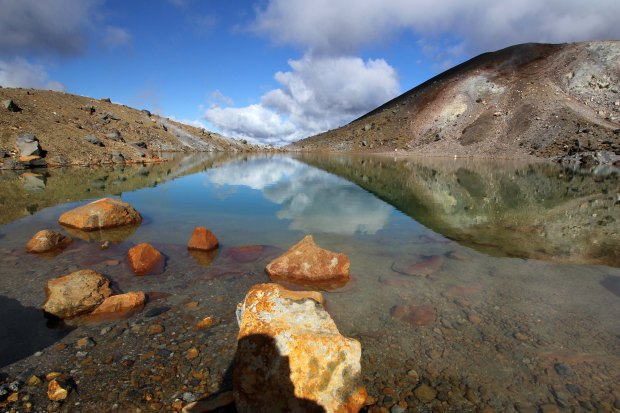 Reflection in the sulfur pool