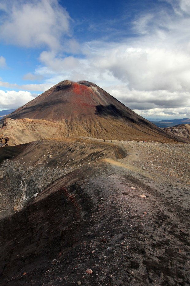Mount Ngauruhoe as seen from the edge of the red crater