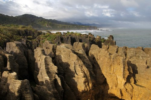Pancake Rocks: a geological oddity