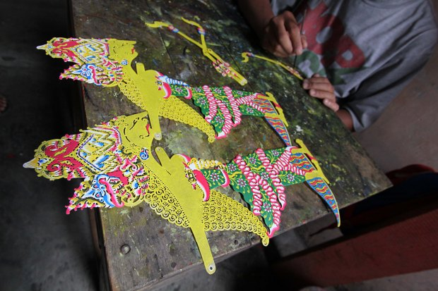 Puppets being painted