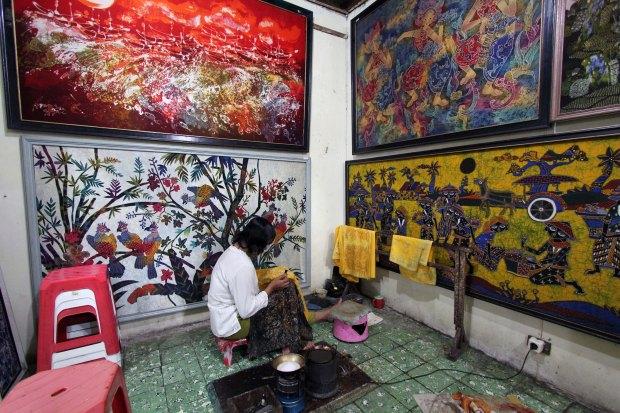 Master batik paintings and batik artist