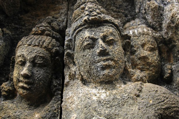 Stone carvings in Borobudur