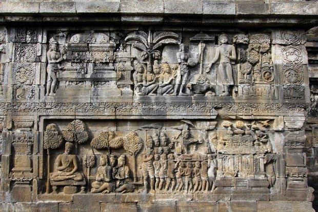 Bas-reliefs in Borobudur temple