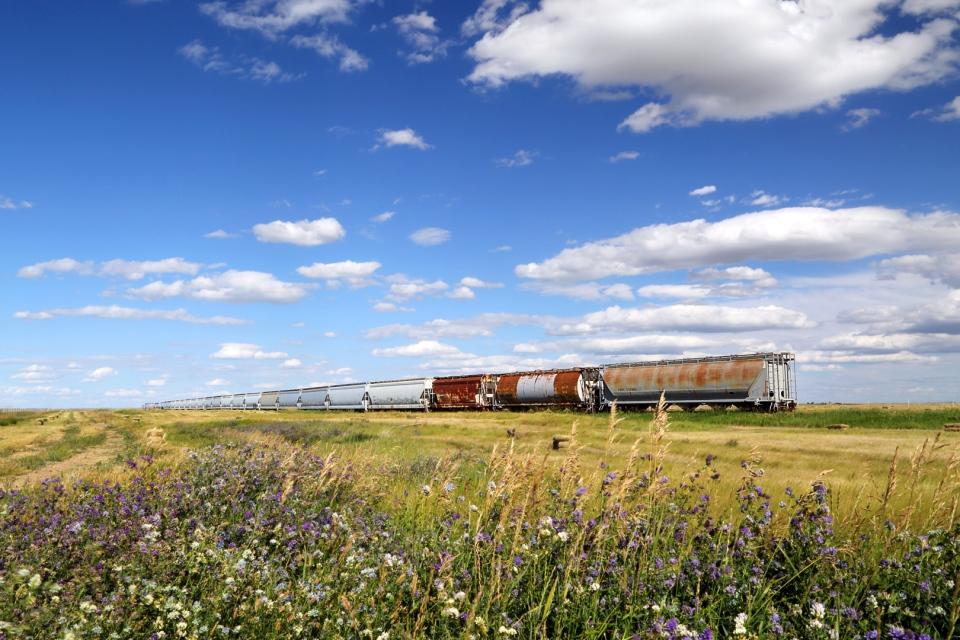 Train in the prairies